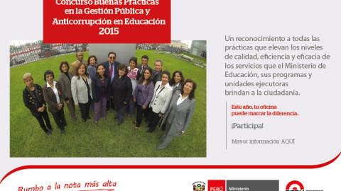 Concurso Buenas Prácticas en la Gestión Pública y Anticorrupción en Educación