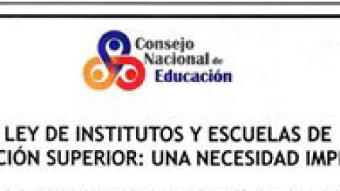 Pronunciamiento CNE – Ley de Institutos
