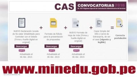 MINEDU: Convocatoria CAS Abril 2016 – Más de 100 Puestos de Trabajo