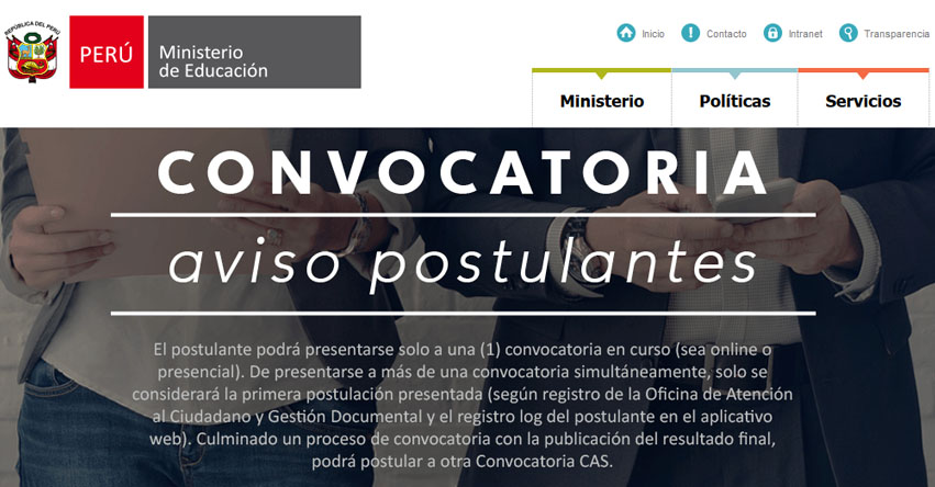 Convocatoria cas minedu 204 plazas en sede for Sep convocatoria plazas 2016