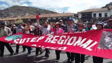 SUTEP – Paro de 72 horas fue contundente en Cusco
