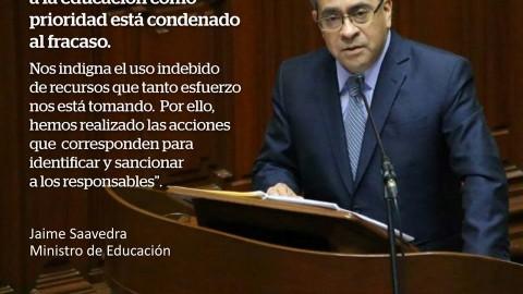 #INTERPELACIÓN: síntesis de las respuestas del Ministro Jaime  Saavedra
