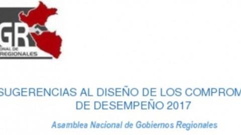 ANGR: Sugerencias al diseño de los Compromisos de Desempeño 2017