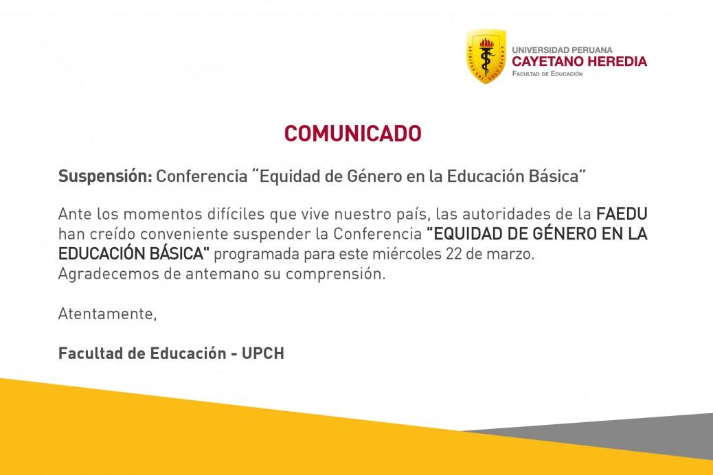 Comunicado- Conferencia Marzo