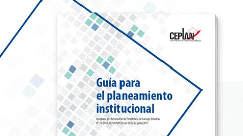 Ceplan publica guía para el planeamiento institucional