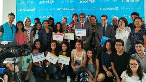 UNICEF lanzó proyecto DE Adolescentes