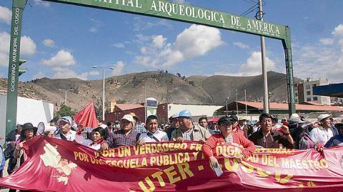 Cusco: Sutep da ultimátum para reinicio de huelga