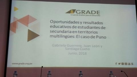 Conferencia internacional: Territorios y desarrollo en el Perú. El caso de estudiantes aymara y quechua hablantes de zona urbana de Puno