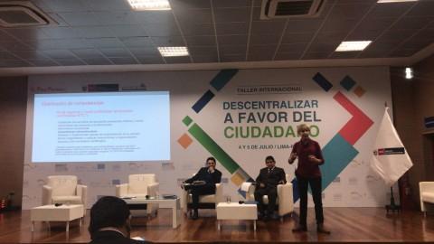 """Se realizó taller """"Descentralizar a favor del ciudadano"""""""
