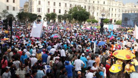 Minedu sobre marcha contra el enfoque de género: Es un grupo que no representa a todos los padres de familia