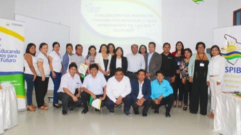 Proyecto FOSPIBAY presentó informe ante UGEL Sechura
