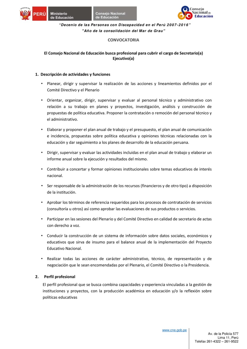 Convocatoria docente para 2016 secretaria de educacion en for Convocatoria de docentes 2016
